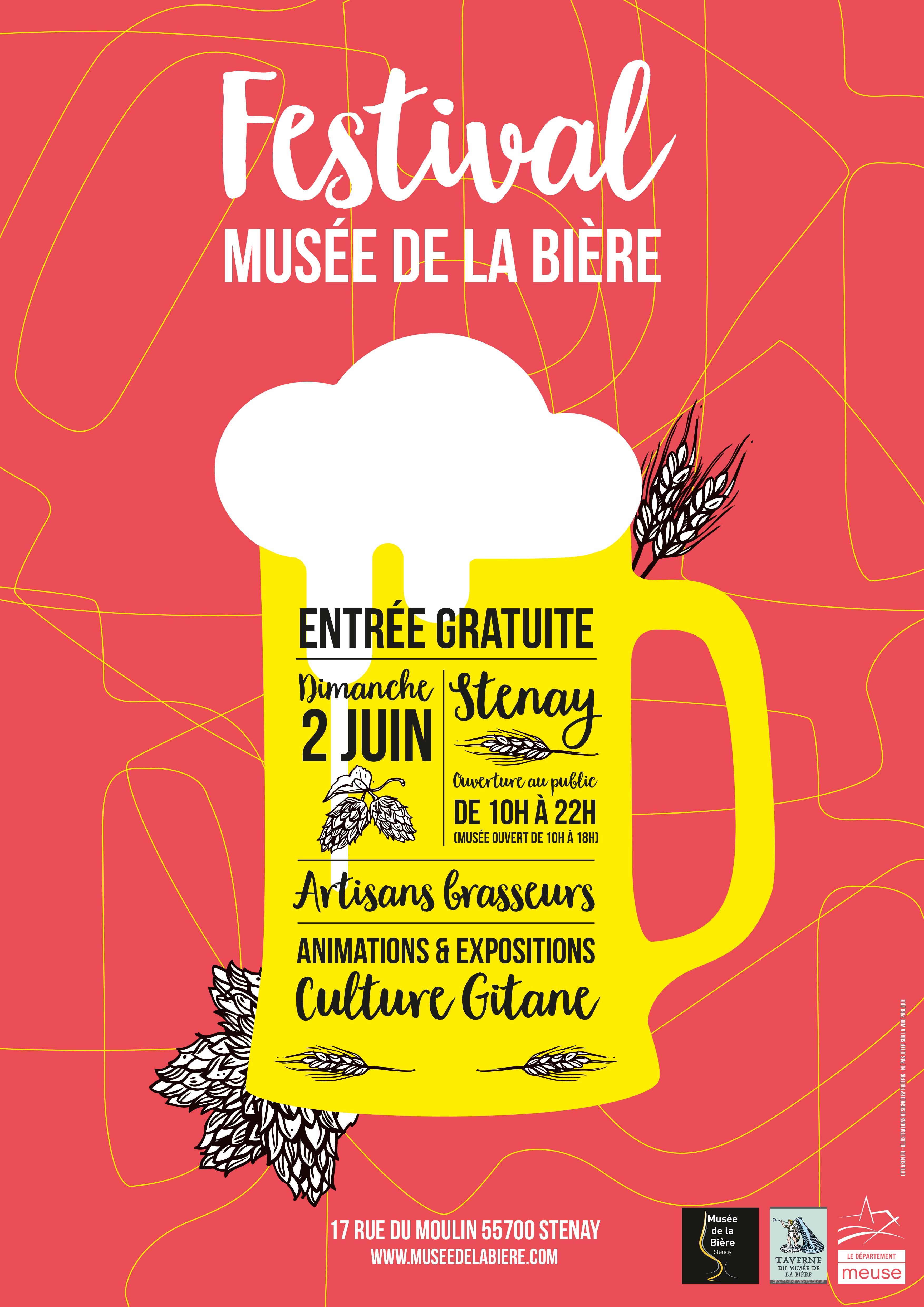 Affiche du troisième festival du Musée de la Bière à Stenay
